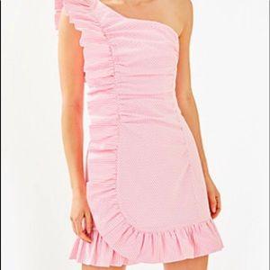 Lilly Pulitzer Tiffani Seersucker Dress Sz 4 NWT